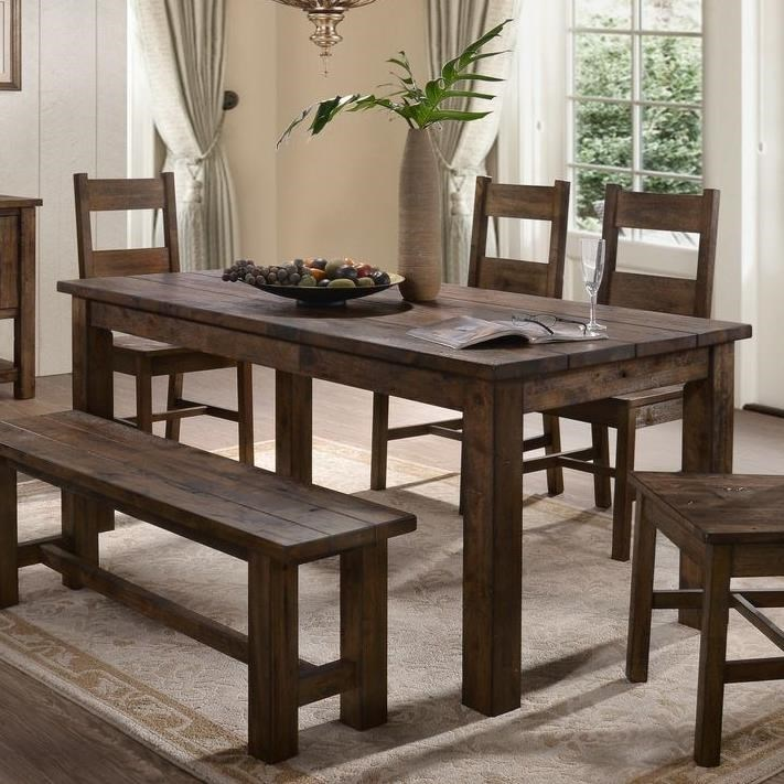 Lifestyle kristen rustic dining table with thick block legs