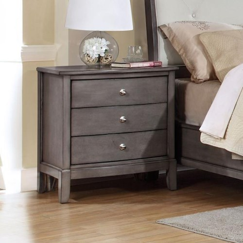 Alex Express Life 7185 3 Drawer Nightstand