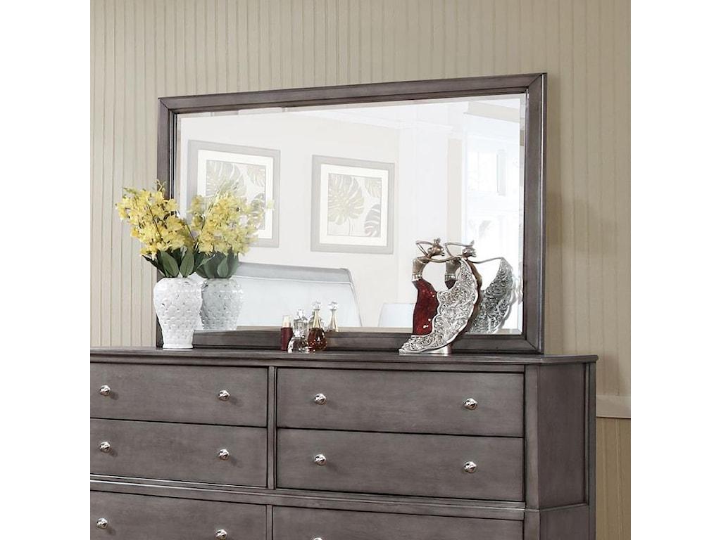 Alex Express Life 7185Beveled Mirror w/ Wood Frame