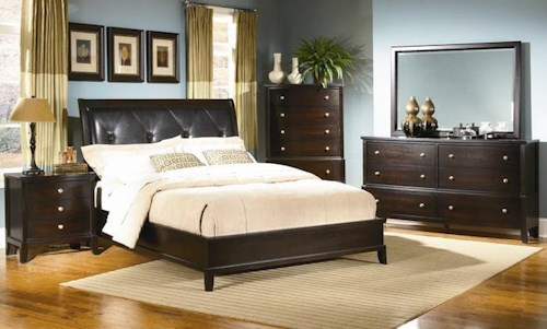 Lifestyle 7185A 7 Piece Queen Upholstered Bedroom Group