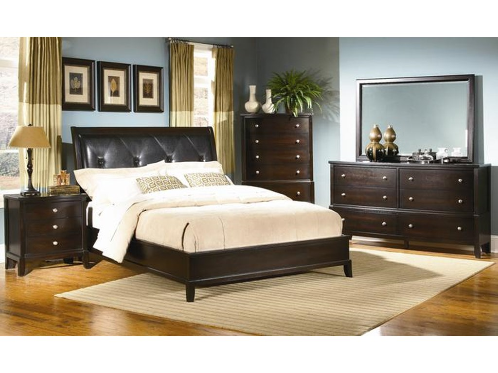 Alex Express Life 7185AQueen Upholstered Bed