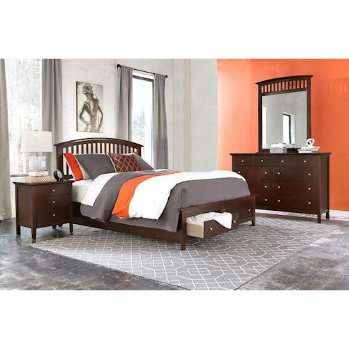 Lifestyle Bryce 4PC Queen Storage Bedroom Set