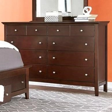 Lifestyle 8237A 8 Drawer Dresser in Whiskey Finish