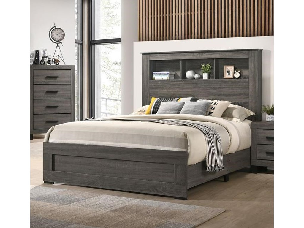 Lifestyle 8321Queen Bookcase Bed