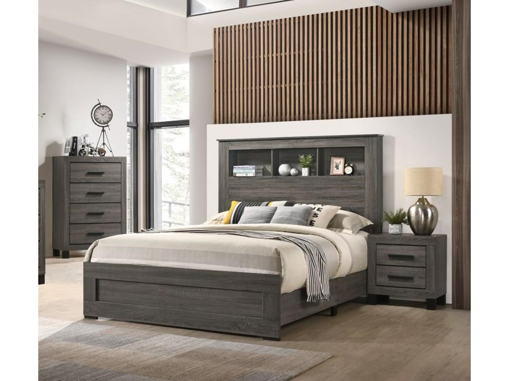Lifestyle 83215 Piece Queen Bookcase Bedroom Group