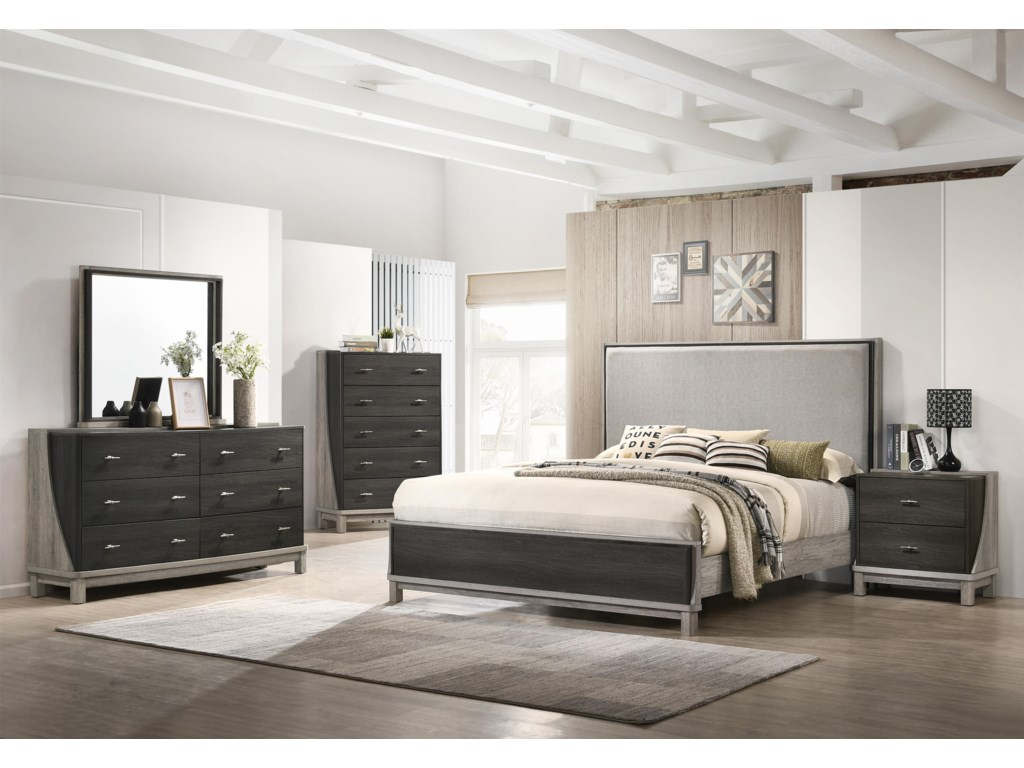 Lifestyle 8451A6 Piece Queen Bedroom Group