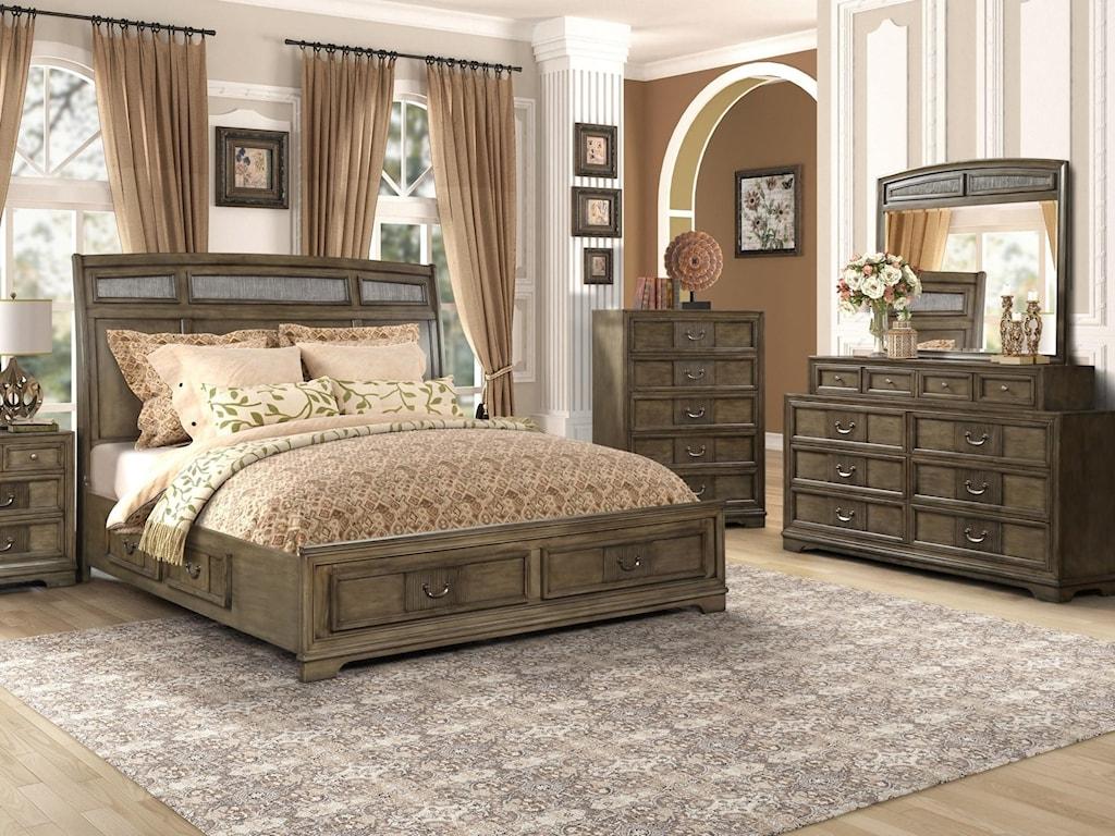 Lifestyle LorrieKing 5 Pc Bedroom Group