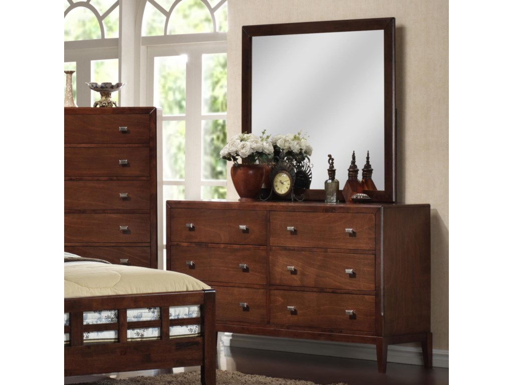 Lifestyle 9142Dresser and Mirror Set
