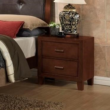 Lifestyle 9182 Nighstand With 2 Drawers