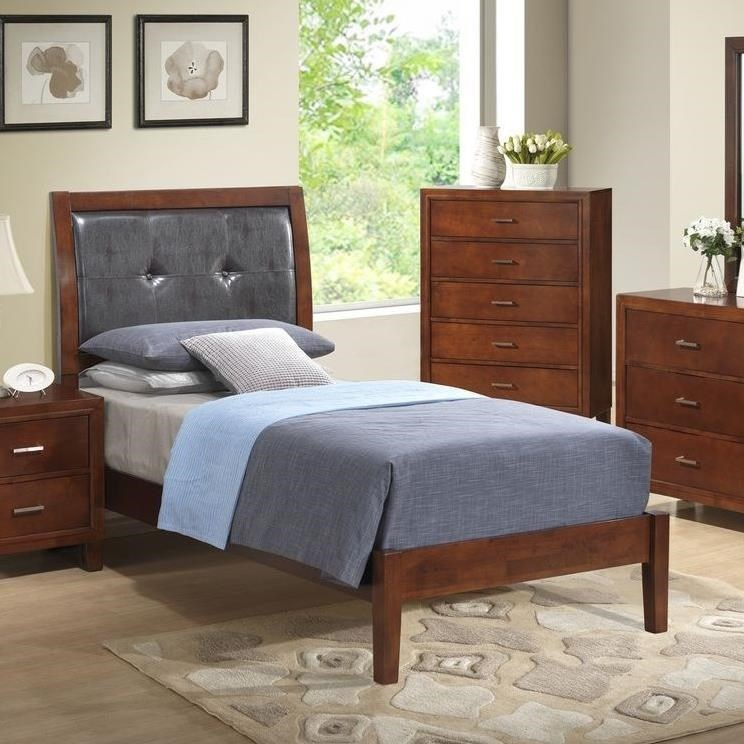 Lifestyle 9182Twin Upholstered Panel Bed