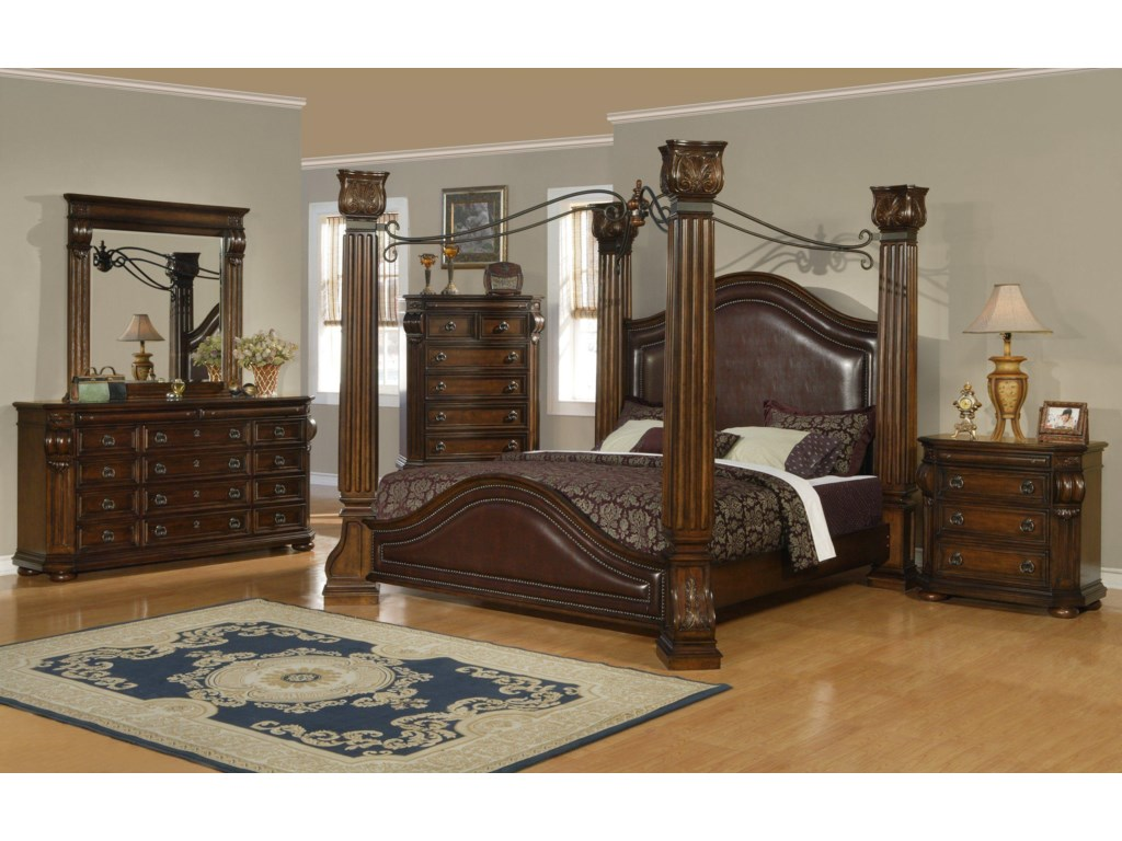 Lifestyle 9241King Canopy Bed