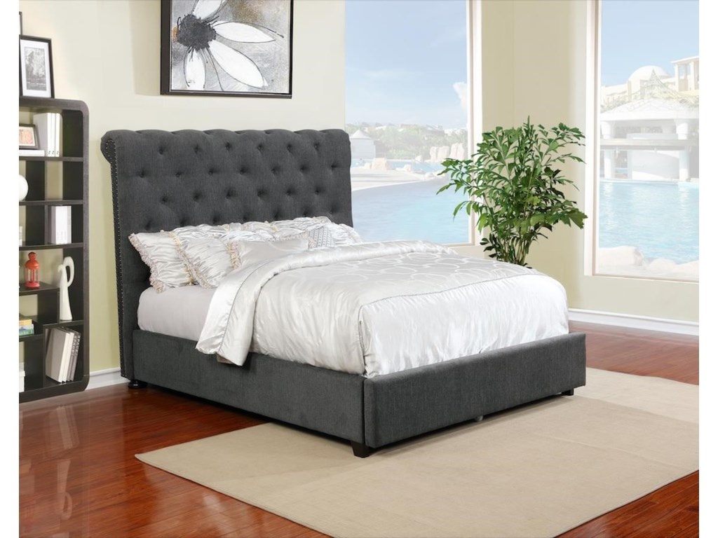 Lifestyle 9361NQueen Upholstered Bed Set