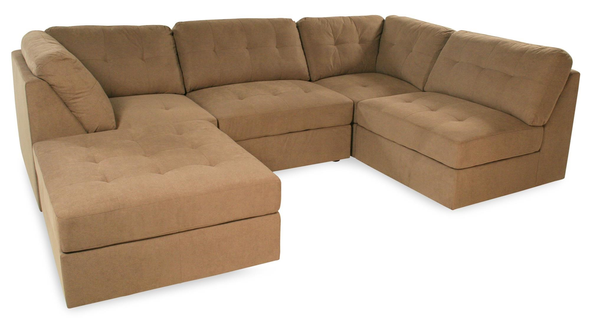 Lifestyle Sabrina Taupe Button-Tufted Sectional Sofa  sc 1 st  Rotmans : rotmans sectionals - Sectionals, Sofas & Couches