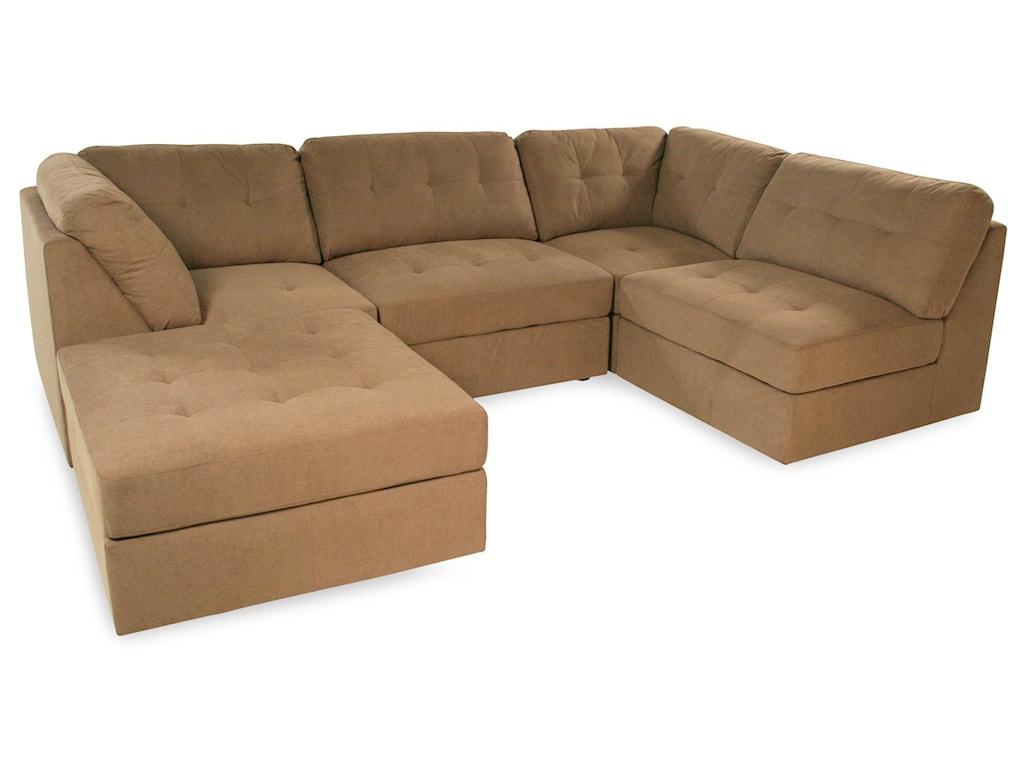 Lifestyle Sabrina Taupesectional Sofa