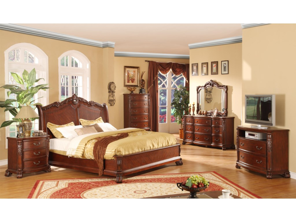 Lifestyle FrenchyQueen Cherry Panel Bed