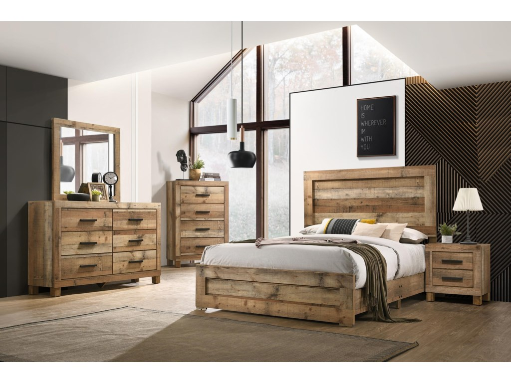 C8311A 6 Piece Full Bedroom Set by Lifestyle at Sam Levitz Furniture