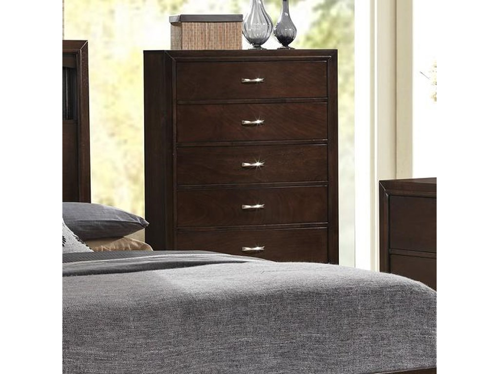 Lifestyle Bookie 5 Drawer Contemporary Chest