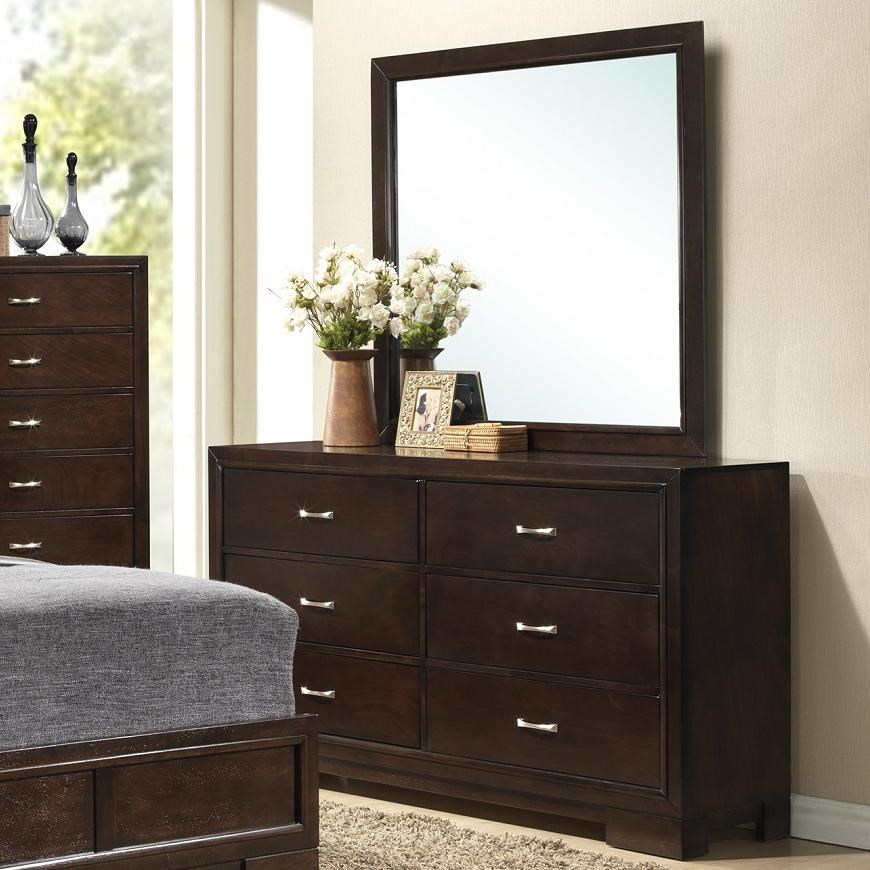 Lifestyle Bookie 6 Drawer Dresser And Framed Dressing Mirror L