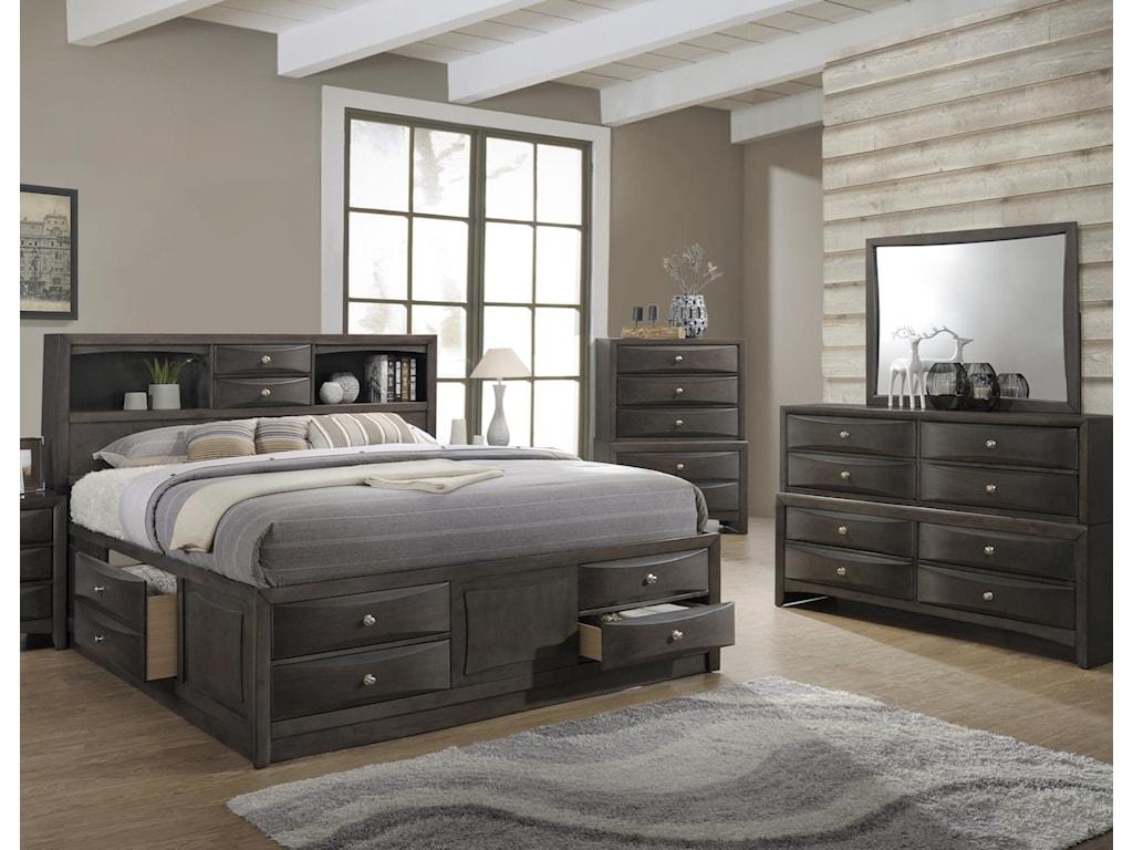 Lifestyle Todd GrayQueen 5 Piece Bedroom Group