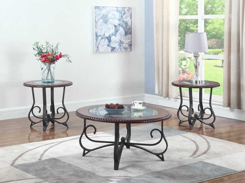 Lifestyle C1680OCocktail Table with 2 End Tables