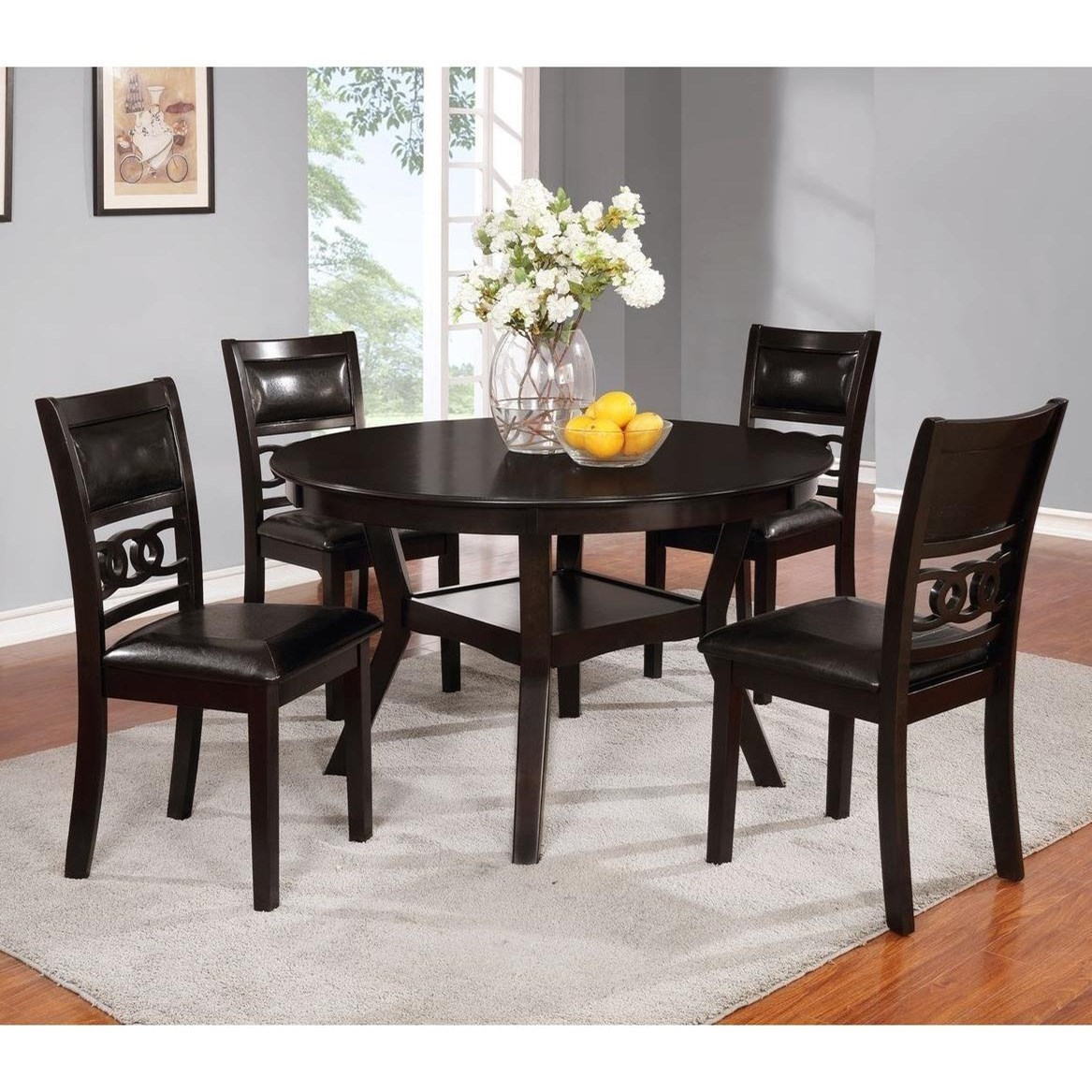 Lifestyle Linking RingDining Table And Four Chairs ...