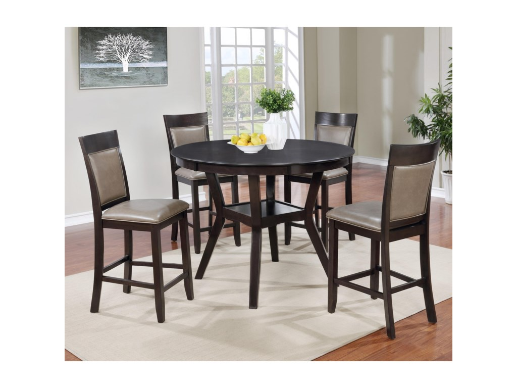 Lifestyle Linking Ring Transitional Two Tone Pub Table And Four