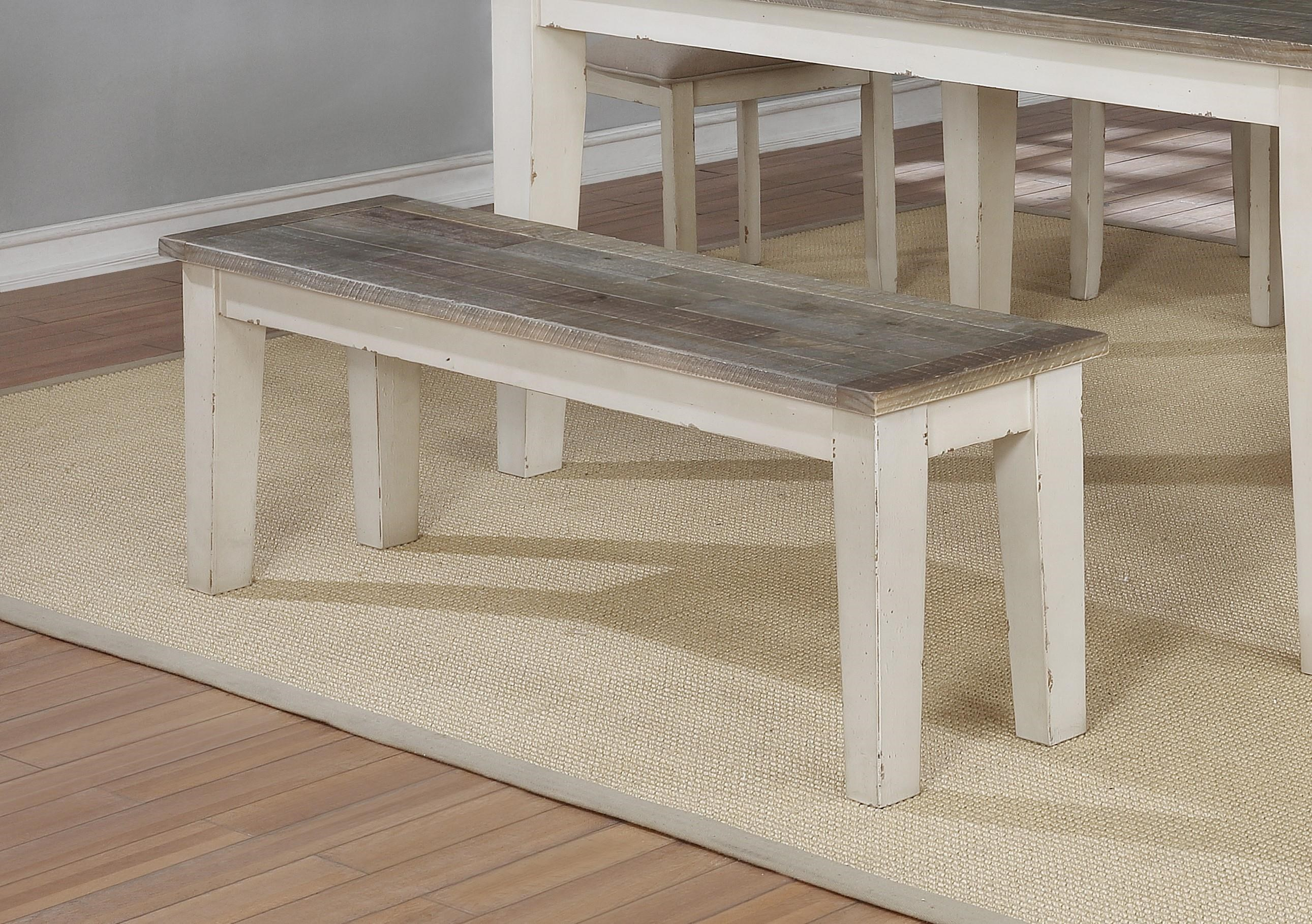 Beau Lifestyle C1855Dwht Brn Dining Bench