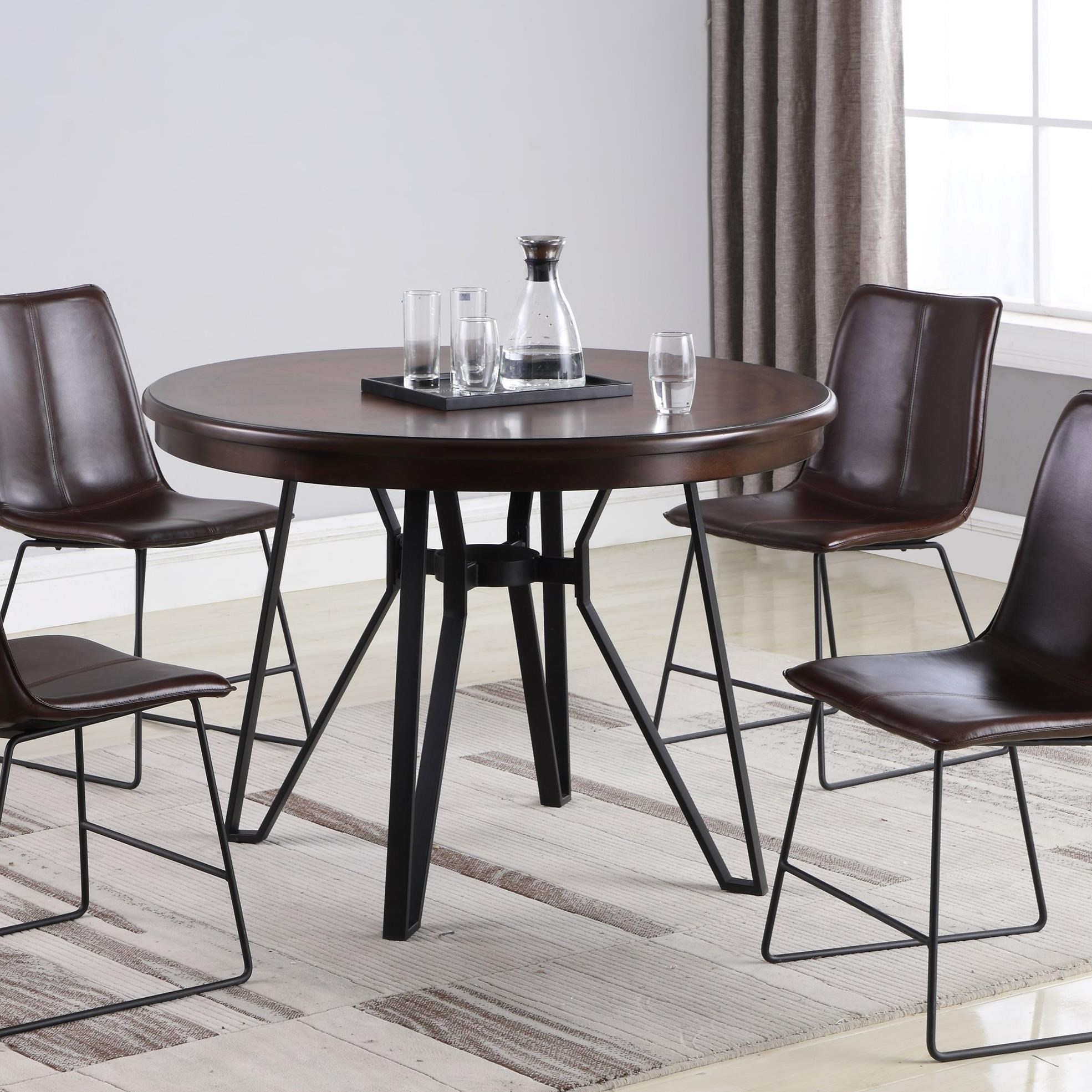 Lifestyle C1860p C1860d Dtx Industrial Round Dining Table Sam Levitz Furniture Kitchen Tables