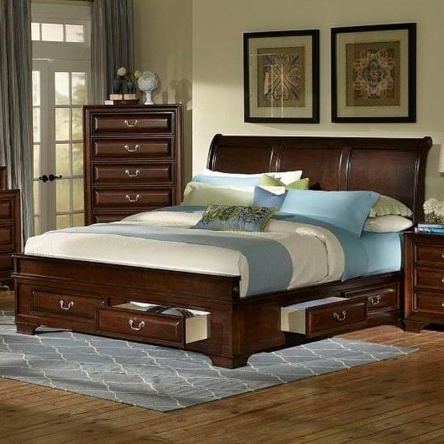 Lifestyle Todd Queen Storage Bed Royal Furniture Platform Beds