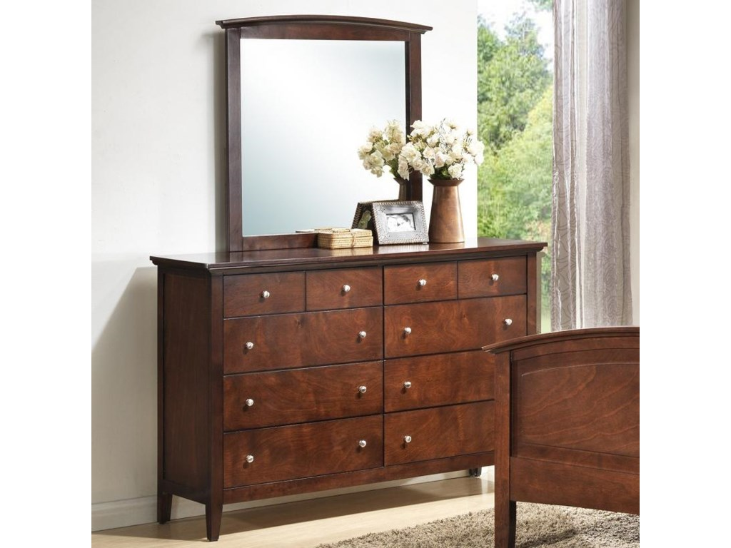 Lifestyle C3136A BedroomDresser & Mirror