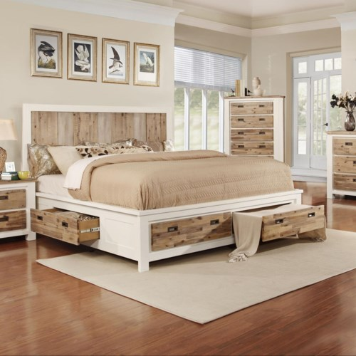 Tommy Queen Bed With Built In Storage Rotmans Headboard
