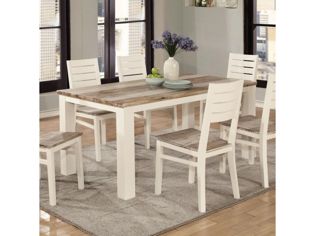 Lifestyle C347dining Table Two Tone