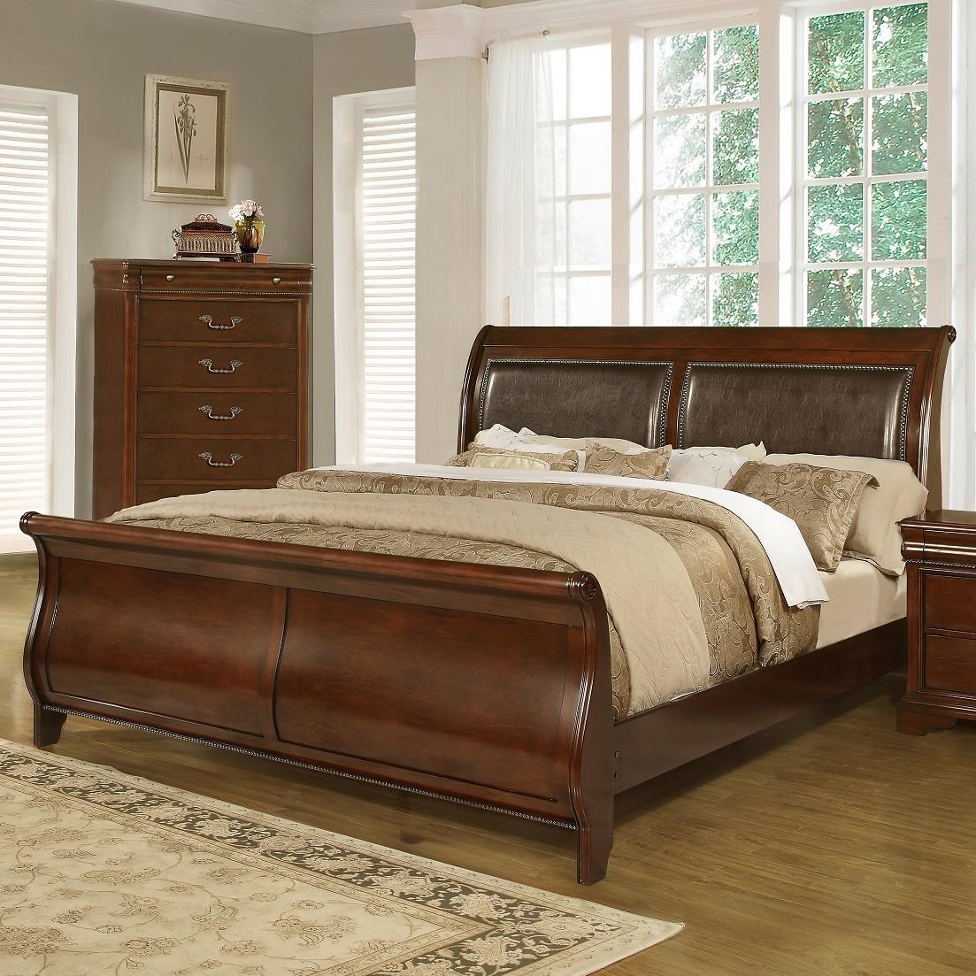 sleigh bed furniture. Lifestyle C4116A Traditional King Sleigh Bed Furniture