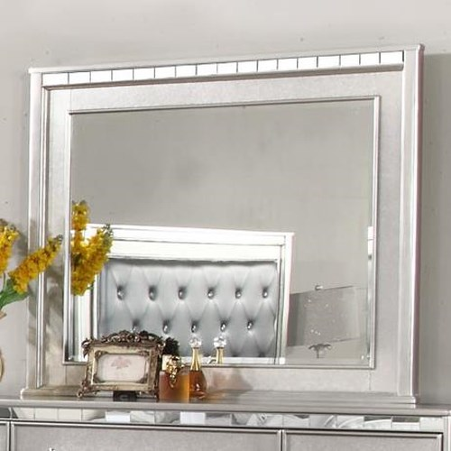 Lifestyle Glam Metallic Finished Mirror with Beveled Glass