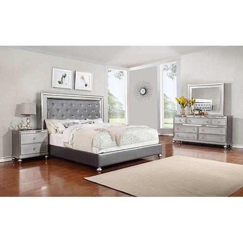 Lifestyle Glam 4-Piece King Bedroom Set