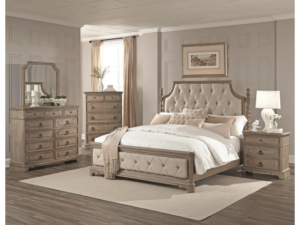 Lifestyle PearlKing 5 Piece Bedroom Group