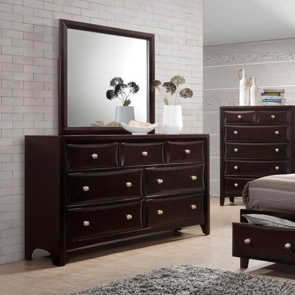 Lifestyle C6498A7 Drawer Dresser and Mirror