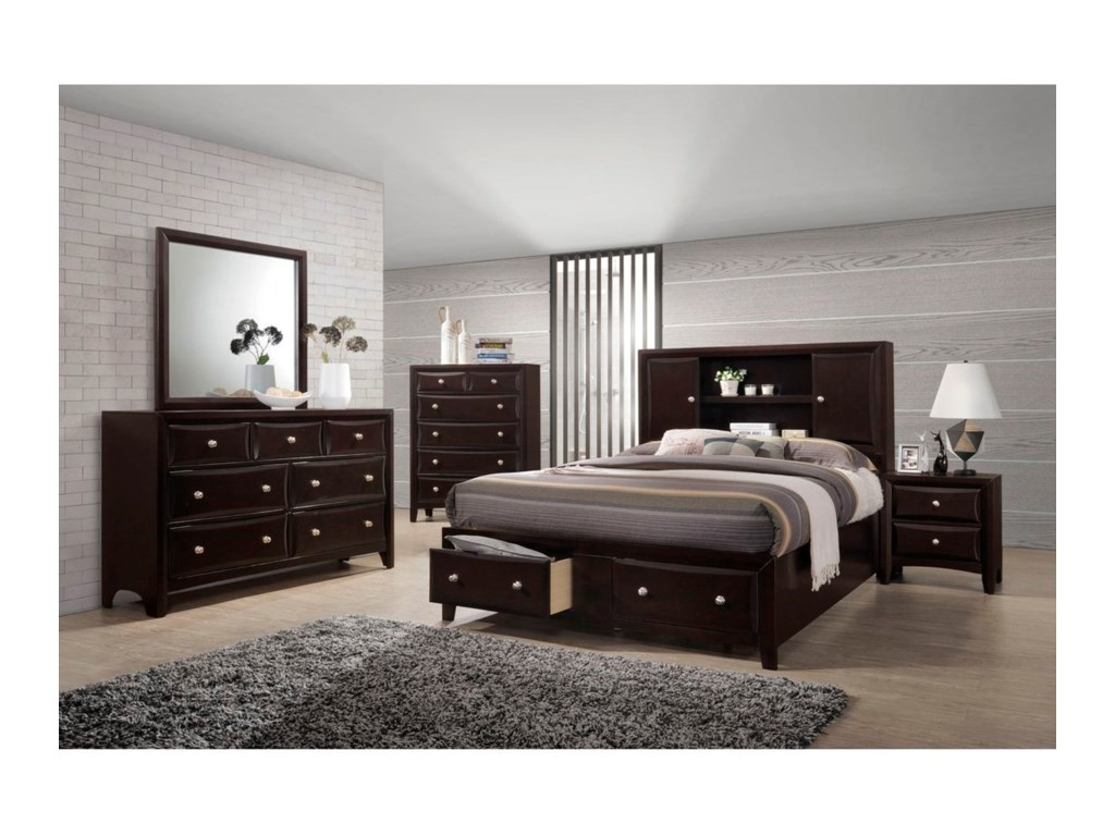 Lifestyle Jessgal7 Drawer Dresser and Mirror