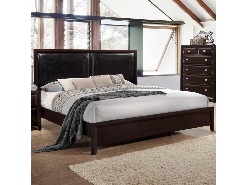 Platform Bed With Upholstered Headboard
