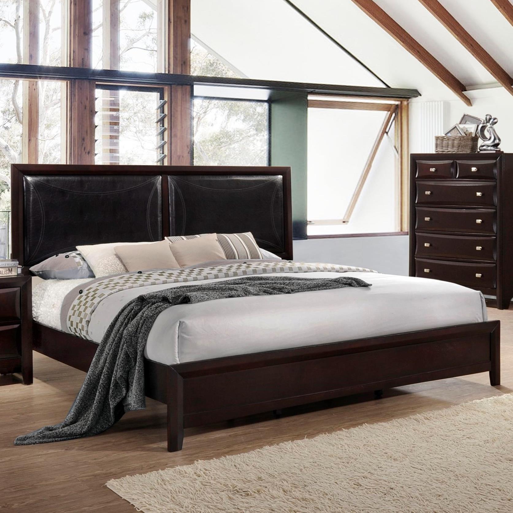 Picture of: Lifestyle Jessgal King Platform Bed With Upholstered Headboard Royal Furniture Platform Beds Low Profile Beds