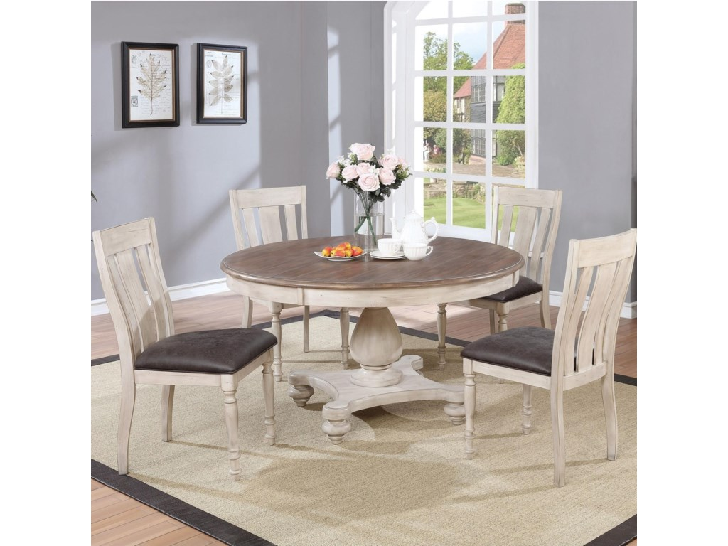 Harlow 5pc Farmhouse Dining Table Chair Set