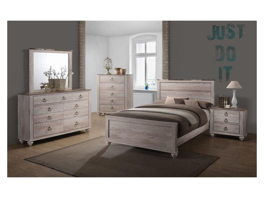 Lifestyle C7302ATwo Drawer Nightstand