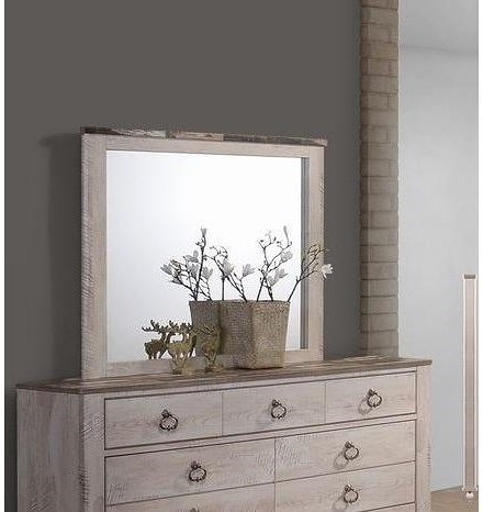 Lifestyle C7302A Dresser Mirror with Two-Tone Distressed Frame