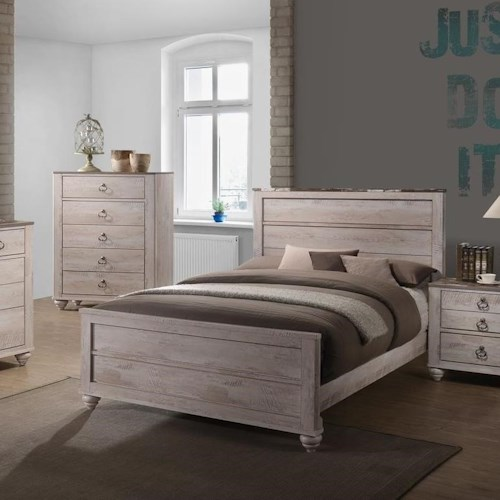 Lifestyle C7302A Transitional King Panel Bed