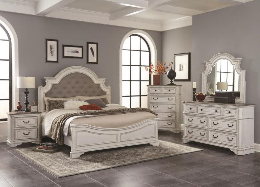 Calla Lily 4pc Queen Bedroom Set W Upholstered Headboard Rotmans
