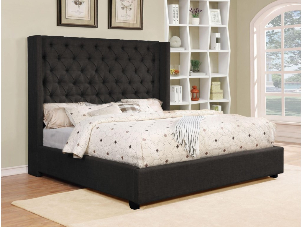 Lifestyle C9246NKing Upholstered Bed Set
