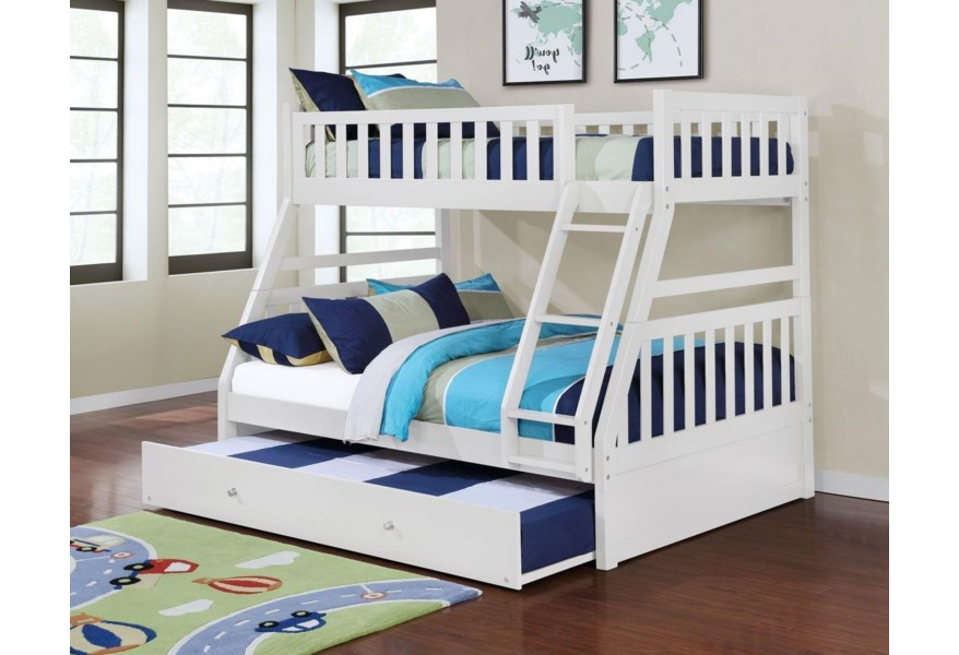 Lifestyle Cb80 573 12313 3 574 12313 4 575 12313 5 White Twin Over Full Bunk Bed No Pull Out Furniture Fair North Carolina Bunk Beds