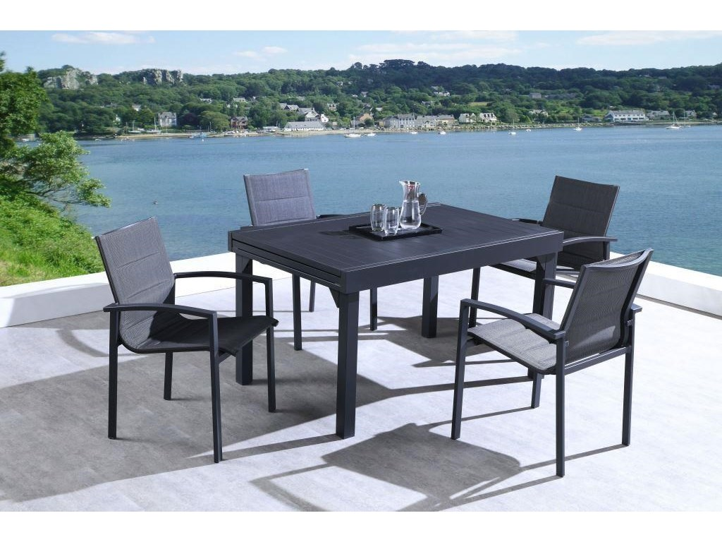 Lifestyle COD829 Black5 Piece Outdoor Dining Set