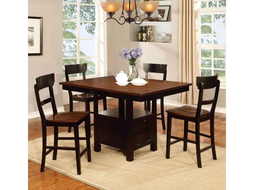 Lifestyle DC393 Pub Table and Chair Set | Royal Furniture | Pub ...