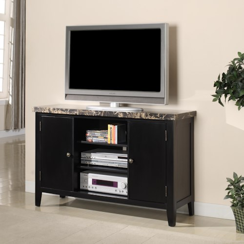 Lifestyle EC032 Television Stand w/ Marble Top